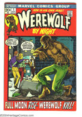 Bronze Age (1970-1979):Horror, Werewolf by Night #1 (Marvel, 1972) Condition: FN/VF. Mike Ploogart. Overstreet 2003 FN 6.0 value = $27; VF 8.0 value = $64...