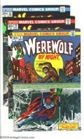 Bronze Age (1970-1979):Horror, Werewolf by Night Group (Marvel, 1973) Condition: Average NM-. Thislot consists of issues #9, 10, 14, and 15. Overstreet 20... (Total:4 Comic Books Item)