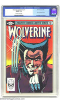 Modern Age (1980-Present):Superhero, Wolverine (limited series) #1 (Marvel, 1982) CGC NM/MT 9.8Off-white to white pages. First solo Wolverine comic. FrankMille...