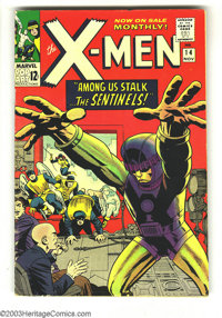 X-Men #14 (Marvel, 1965) Condition: VG+. First appearance of the Sentinels. Jack Kirby cover, interior layouts by Kirby...