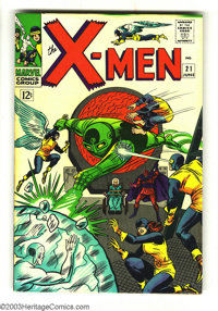 X-Men #21 (Marvel, 1966) Condition: VF/NM. Overstreet 2003 VF/NM 9.0 value = $125: NM 9.4 value = $160. From the White R...