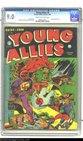 Young Allies Comics #4 (Timely, 1942) CGC VF/NM 9.0 Cream to off-white pages. Classic Red Skull cover. Captain America a...