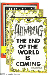 Humbug Group (Humbug, 1957-58) Condition: Average FN+. This lot consists of two copies of issues #1 (FN- and FN+), plus...