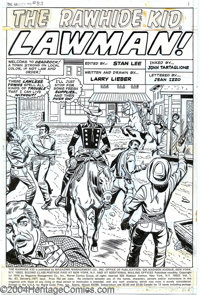 Larry Lieber - Original Art for The Rawhide Kid #83, Group of 12 Pages (Marvel, 1971). Group of 12 pages from the story...