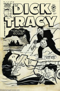 Original Comic Art:Covers, Al Avison - Original Art Cover for Dick Tracy #62 (Harvey, 1954).Underwater cover. Logo masthead is a recent replacement. P...