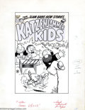 Original Comic Art:Covers, Al Avison (Attributed) - Original Cover Art for Katzenjammer Kids#23 (Harvey, 1953). Second Harvey issue cover; all stats i...