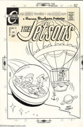 Original Comic Art:Covers, Ray Dirgo - Original Cover Art for the Jetsons #10 (Charlton,1971). What's this -- a nineteenth century hot air balloon in ...