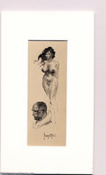 "Original Comic Art:Sketches, Frank Frazetta - Original Art Sketches ""Nude and Profile"" (undated). Very attractive and finished small sketches of a female..."