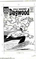 Original Comic Art:Covers, Paul Fung, Jr. (Attributed) - Original Cover Art for Dagwood #62 (Harvey, 1955). Dagwood's attempt to photograph some snow g...