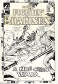 Original Comic Art:Covers, Fred Himes - Original Cover for Fightin' Marines #108 (Charlton,1973). The bayonets look razor-sharp on this cover illustra...