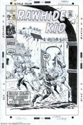 Original Comic Art:Covers, Larry Lieber - Original Cover Art for Rawhide Kid #90 (Marvel,1971). Rawhide Kid teams up with Kid Colt on this cover by La...