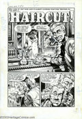 "Original Comic Art:Complete Story, Howard Nostrand - Original Art for Chamber of Chills #18, Complete5-page Story, ""Haircut"" (Harvey, 1953). A story that cuts..."