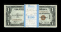 Small Size:World War II Emergency Notes, Fr. 2300 $1 1935A Hawaii Silver Certificates. Ninety-eightExamples. Choice Crisp Uncirculated.. This nicely margined packi... (Total: 98 notes)