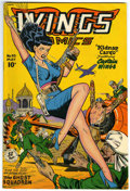 Golden Age (1938-1955):Adventure, Wings Comics #93 (Fiction House, 1948) Condition: FN+....