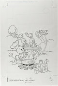 Original Comic Art:Covers, Huey, Dewey, and Louie Junior Woodchucks #44 Cover Original Art(Gold Key, 1977)....