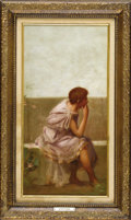 Paintings, A Group of Three Victorian Classical Paintings. English, 19th Century