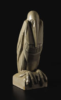 Decorative Arts, French:Other , An Art Deco Stoneware Pelican. Unknown, French. Circa 1925. GlazedStoneware. 21 inches x 7.25 inches x 8 inches . Sculp...