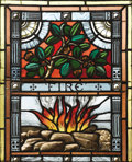 Art Glass:Other , Four American Stained Glass Windows. Unknown maker, American. Circa1890-1900. Stained and painted glass, lead caming, woo... (Total: 4)