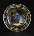 Decorative Arts, French:Other , A French Limoges Enamel Plate. Unknown maker, Limoges, France.Circa 1850-1880. Enamel on copper. Unmarked. 8.38 inches di...