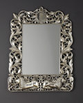 Furniture : Continental, An Anglo-Indian-style Silver Mirror. Unknown maker, Colonial.Twentieth century. Silver and mirrored glass. Unmarked. 32.7...