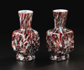 Art Glass:Other , A Pair of American Art Glass Vases. Attributed to Vasa Murrhina ArtGlass Company, Sandwich, Massachusetts. After 1884. Ca... (Total: 2)