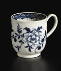 Ceramics & Porcelain, British:Antique  (Pre 1900), An Eighteenth-century English Porcelain Coffee Cup. attributed to Worcester Porcelain Company. Worcester, England. circa 1... (Total: 1 Item)