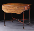 Furniture : American, A Handsome Eighteenth Century Mahogany Pembroke Table. Unknownmaker, possibly American. Eighteenth Century. Mahogany. Unm...