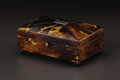 Decorative Arts, British:Other , An English Tortoiseshell Veneered Box. Unknown maker, English.Nineteenth century. Tortoiseshell, silver and wood. Unmarke...
