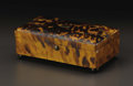 Decorative Arts, British:Other , An English Tortoiseshell Veneered Box. Unkown maker, English.Nineteenth Century. Tortoiseshell, silver and wood. Unmarked...