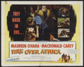 "Movie Posters:Adventure, Fire Over Africa (Columbia, 1954). Half Sheet (22"" X 28"") Style B.Adventure. Starring Maureen O'Hara, Macdonald Carey, Binn..."