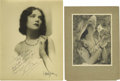 "Movie/TV Memorabilia:Autographs and Signed Items, Alice Calhoun and Bernice Claire Signed Photos. A stunning b&w11"" x 14"" photo of Bernice Claire and a great b&w 7"" x 9""pho..."