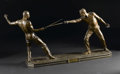 Bronze:European, Le Duel. Nicholas Mayer (1852-1929), French. 1887. Bronze with rich brown patina. Signed and dated at rear: N. Mayer...