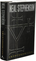 Books:First Editions, Neal Stephenson: Cryptonomicon. (New York: Avon Books,1999), first edition, 918 pages, black quarter-cloth with blackp...