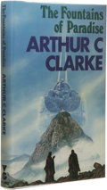 Books:First Editions, Arthur C. Clarke: The Fountains of Paradise. (London: VictorGollancz, Ltd., 1979), first edition, 255 pages, jacket ill...