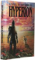 Books:First Editions, Dan Simmons: Hyperion. (New York: Doubleday, 1989), firstedition, 482 pages, blue quarter-cloth and pink paper boards w...