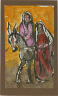 Texas:Early Texas Art - Impressionists, JOSEPHINE MAHAFFEY (American, 1903-1982). Untitled, two figures.Watercolor and acrylic on paper, mounted on mat board. 10in...