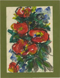 Texas:Early Texas Art - Impressionists, JOSEPHINE MAHAFFEY (American, 1903-1982). Untitled, floral.Watercolor and acrylic on paper, mounted on mat board. 8.5in. x ...