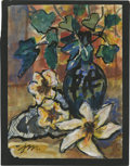 Texas:Early Texas Art - Impressionists, JOSEPHINE MAHAFFEY (American, 1903-1982). Untitled, floral.Watercolor and acrylic on paper, mounted on mat board. Signed to...