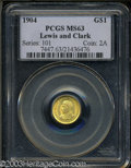Commemorative Gold: , 1904 Lewis and Clark MS63 PCGS. ...