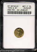 1915-S G$1 Panama-Pacific Gold Dollar Fine12 ANACS. ...(PCGS# 7449)