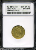 Early Quarter Eagles: , 1807 $2 1/2 --Damaged, Bent--ANACS. AU Details, Net XF40. ...