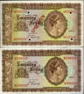 Luxembourg, Luxembourg: Allied Occupation 20 Francs 1943 - Pair,... (Total: 2notes)