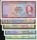 Luxembourg, Luxembourg: Grand Duche de Luxembourg Issued Types 1954-63,...(Total: 5 notes)