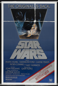 "Star Wars (20th Century Fox, R-1982). One Sheet (27"" X 41""). Science Fiction"