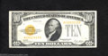Small Size:Gold Certificates, 1928 $10 Gold Certificate, Fr-2400, VF-XF. This is a very ...