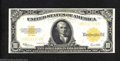 Large Size:Gold Certificates, 1922 $10 Gold Certificate, Fr-1173, About Uncirculated. A nice,...