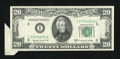 Error Notes:Attached Tabs, Fr. 2062-I $20 1950C Federal Reserve Note. Extremely Fine.. ...