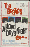 "Movie Posters:Rock and Roll, A Hard Day's Night (United Artists, 1964). One Sheet (27"" X 41"").Rock and Roll...."