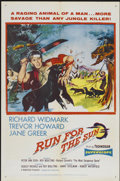 """Movie Posters:Adventure, Run for the Sun (United Artists, 1956). One Sheet (27"""" X 41"""").Adventure...."""
