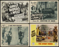 "Movie Posters:Serial, Serial Lot (Universal and Republic, 1942-1956). Lobby Cards (4) (11"" X 14""). Serial.... (Total: 4 Items)"